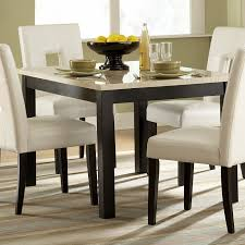 Home Furniture Dining Sets Homelegance 3270 48 Archstone Faux Marble Dining Table Black