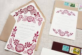customized wedding invitations print wedding invites armans floral block printed wedding