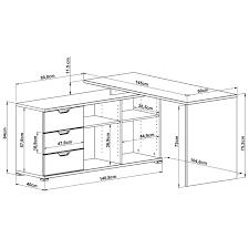 dimension bureau bureau d angle gris et bois mateo bureaus desks and interiors