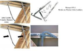 counter balance arms for attic ladders