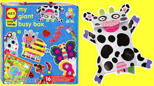 alex toys my giant busy box craft kit unboxing mu mu cow youtube