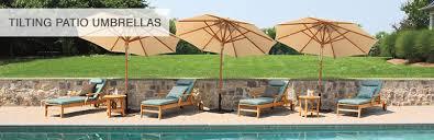 Backyard Umbrellas Teak Tilting Umbrellas Tilting Patio Umbrellas Country Casual