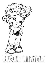 monster high chibi coloring pages holt hyde little boy monster high coloring page things for my