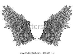royalty free vector angel wings profile human faces u2026 456872797