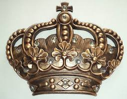 new gold crown wall decor art royalty from poshreddecor on ebay