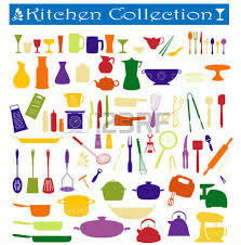a big collection of everyday kitchen essentials royalty free