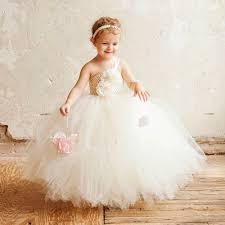 mariage couture ivoire fleur fille de mariage couture tutu robe beige crochet top