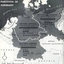 Germany Map by Andrew Clem World War Two 1944 Germany Partition Map Atlantic