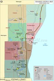Wisconsin Topographic Map by Ozaukee County Map Wisconsin