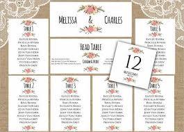 Wedding Seat Chart Template Seating Chart Wedding Template Printable Wedding Seating