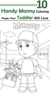 25 free printable handy manny coloring pages
