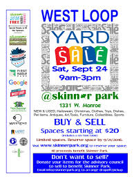 west loop yard sale skinner park advisory council