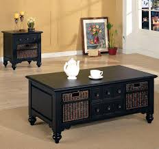 coffee table with baskets under white end table with storage medium size of side table square dot