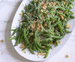 green beans with meyer lemon vinaigrette parmesan breadcrumbs
