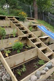 Landscaping Ideas For Backyard by Wood Pallet Projects For Garden Garden Planters Garden Projects