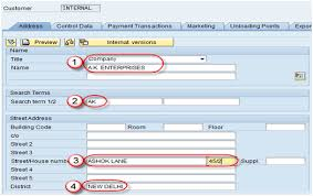 Sap Material Master Tables by Customer Master Data Sap Xd01