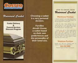 discount caskets costco the large discount warehouse has caskets available for