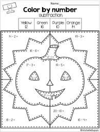 halloween color number michelle dupuis education tpt