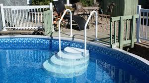 wedding cake pool steps wedding cake pool step rails lumi o inground pool step w s rails