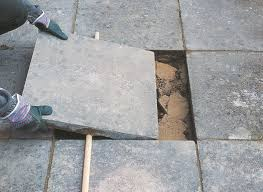 Cover Cracked Concrete Patio by How To Repair Paving Help U0026 Ideas Diy At B U0026q