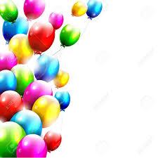 birthday balloons modern birthday balloons on white background royalty free cliparts