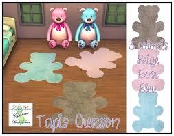 tapis ourson chambre bébé tapis ourson sims 4 accesoire maison ourson tapis
