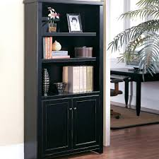 Bookcases With Doors Uk Vintage Black Teak Bookcase With Glass Door In Framed Design In