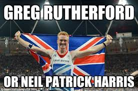greg rutherford or neil patrick harris nph disguised as greg