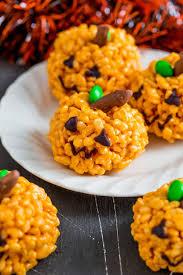 pumpkin rice krispie treats kid friendly halloween treat