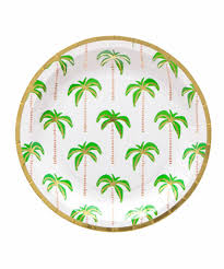 palm tree plates small