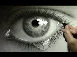 eye with teardrop drawing lapse