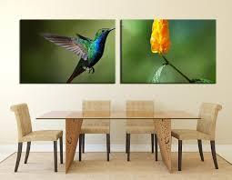 2 Piece Canvas Wall Art Hummingbird Canvas graphy Green