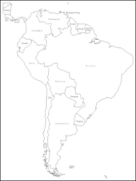 map of and south america black and white map of south america black and white
