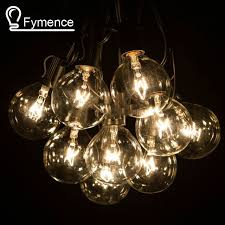 Outdoor Patio String Lights 50ft Globe String Lights G50 50 Clear Globe Bulbs 220 110v Black