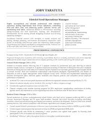 Food Industry Resume Examples by Charming District Manager Resume 6 District Manager Resume Sample
