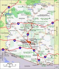 map of az map of arizona travelquaz