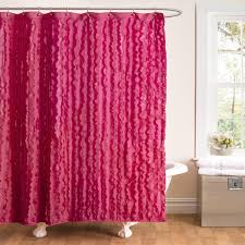 White Ruffled Curtains by Bathroom Awesome Ruffle Shower Curtain For Decoration Bathroom