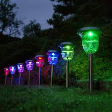 solar landscaping lights outdoor garden lighting home depot home outdoor decoration