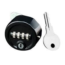 zinc alloy 4 digit combination lock override key satin chrome