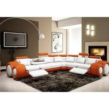 canapé d angle orange canapé d angle cuir design orange et blanc relax achat vente