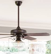 heron ceiling fan with light kit aged bronze maple blades clear