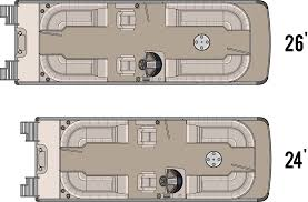 Boat Floor Plans 2014 Cascade Quad Lounge Tahoe Pontoon Boats