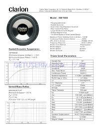 clarion speakers xw1500 user u0027s manual download free