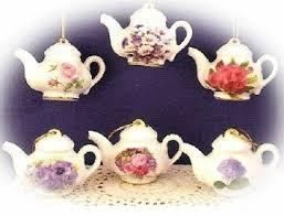floral teapot ornaments tea ornament teapot