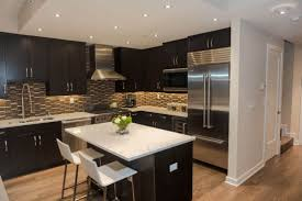 Stainless Steel Backsplash Kitchen by Light Countertops With Dark Cabinets Awesome Black Cabinets Small