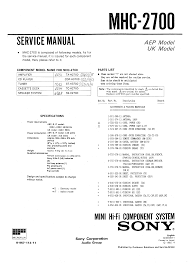 sony mhc2700 service manual immediate download