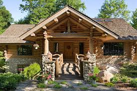 rustic log home plans a michigan rustic log home with a ski lodge feel stone work log