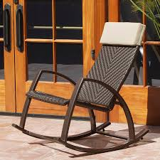 Wicker Outdoor Rocking Chairs Shop Rst Outdoor Espresso Aluminum Woven Seat Outdoor Rocking