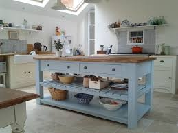 Stand Alone Kitchen Furniture Rustic Painted 4 Drawer Kitchen Island Unit Freestanding Kitchen