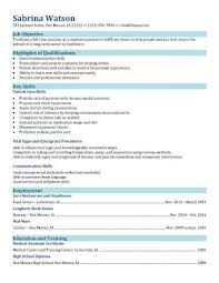 Example Of Resume Skills And Qualifications by 16 Free Medical Assistant Resume Templates